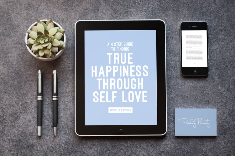 A 4 Step Guide to Finding True Happiness Through Self Love  |  Pushing Beauty  |  Michelle D'Avella  |  Breathwork Teacher, Self-Care Coach, Writer