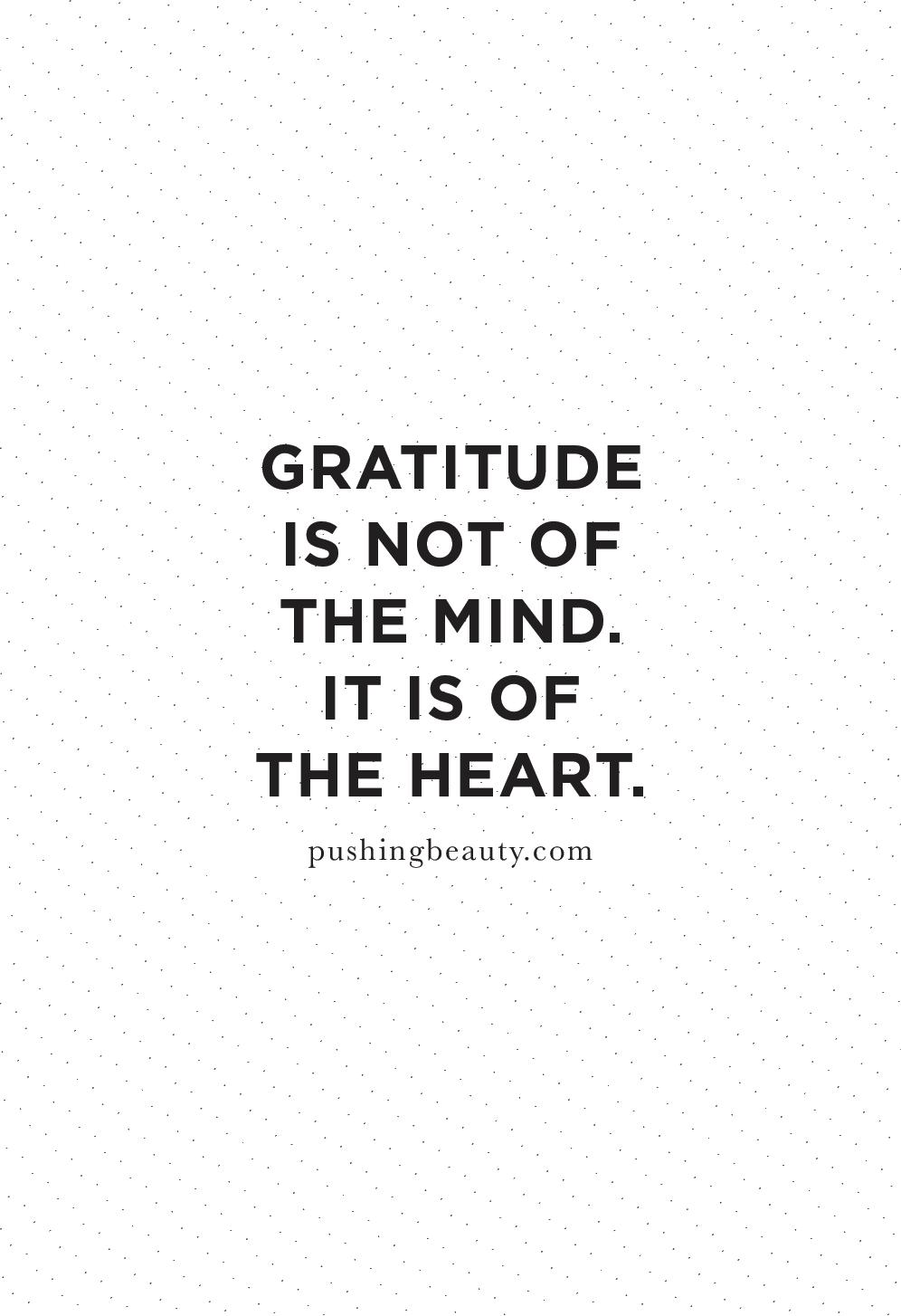 gratitude quotes | pushing beauty