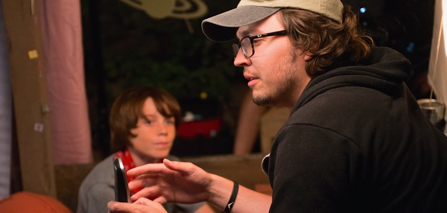 Landon Pelant and Christiano Dias on the set of  King Eternal.  Photo credit by Gene Avakyan Photography. Read the Hollyshorts Filmmaker Spotlight article  here .