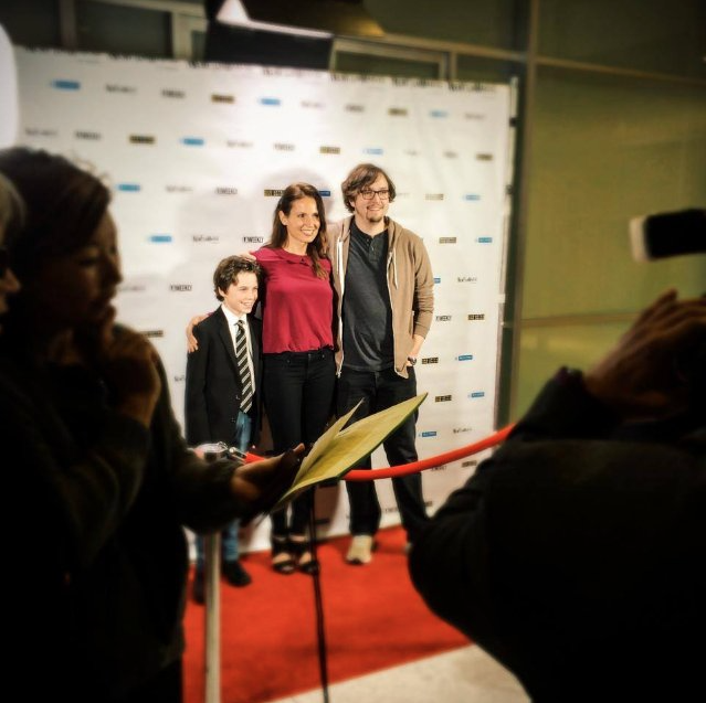 Landon Pelant, Lisa Roumain, and Christiano Dias at NewFilmmakers Los Angeles premiere of  King Eternal.