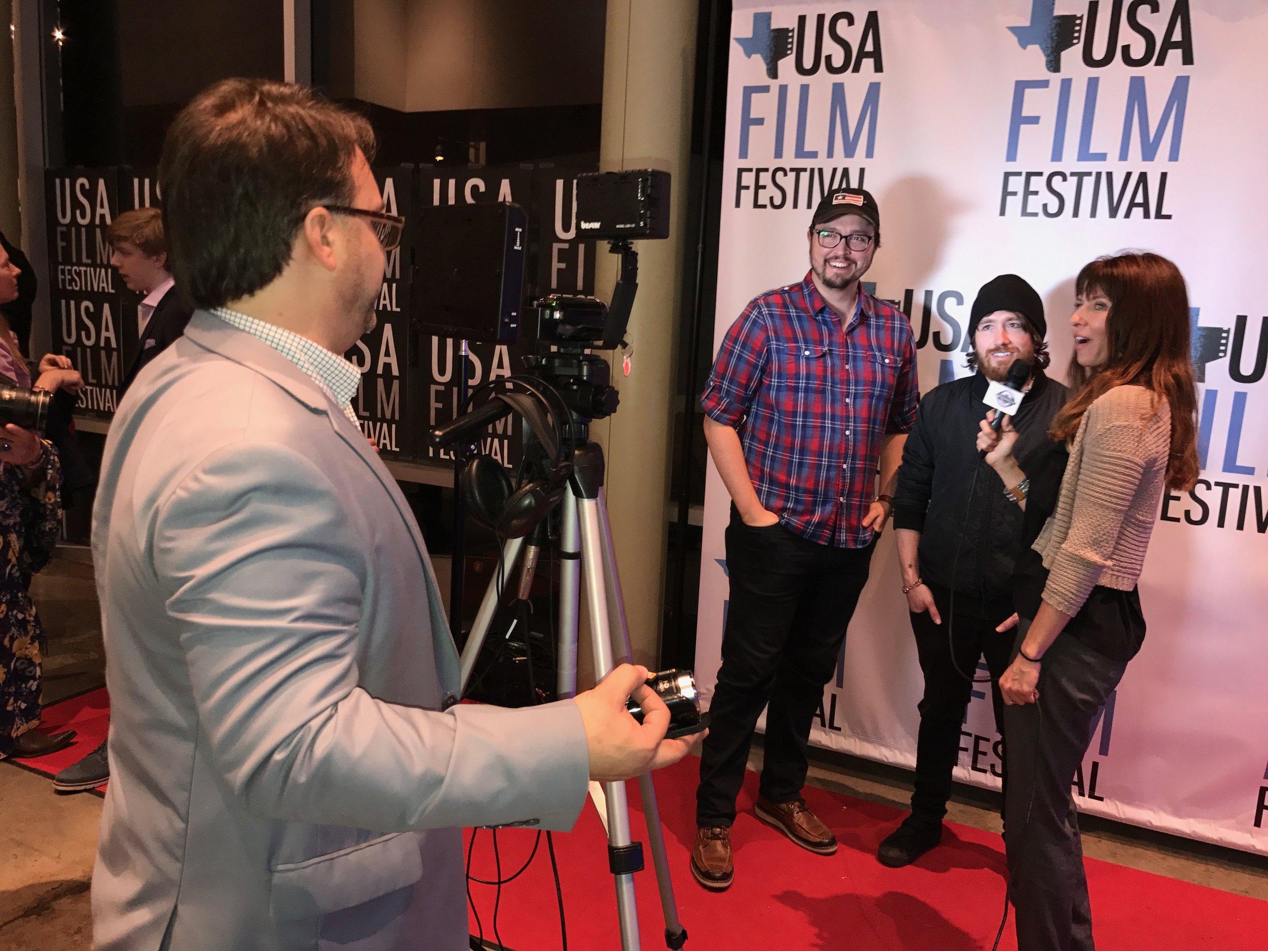 Christiano Dias and David Jay at the USA Film Festival premiere in Dallas, TX.