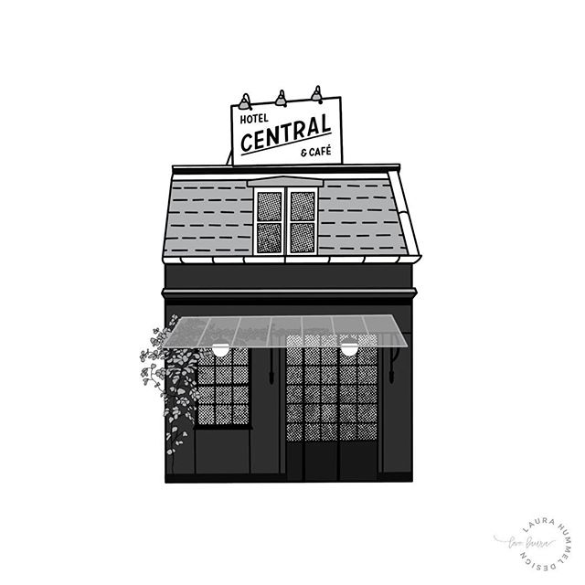 #3 in the Places of Copenhagen series @centralhotelogcafe - The world's smallest hotel.