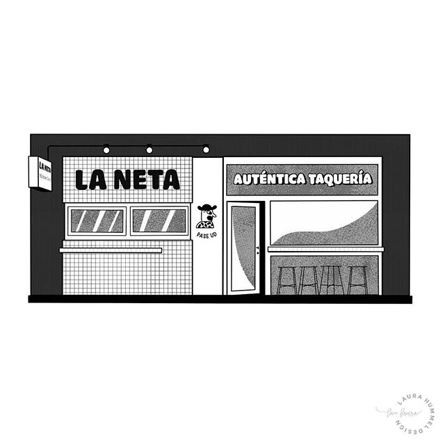 Working on a new series of illustrations for 2019. Sharing some of my favorite places around Copenhagen (and beyond.) . . . First up: my favorite place to grab real street-style tacos, @lanetacph - in Nørrebro! 🌮 . . . Going to get set a realistic goal of one new 'favorite' illustration a week, so stay tuned!