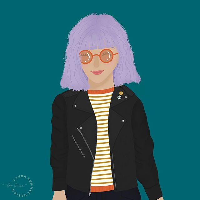 A few day behind- but here is day 1 of @charlyclements #funwithfaces prompt: Leather Jacket • Curly Hair •. Sunglasses