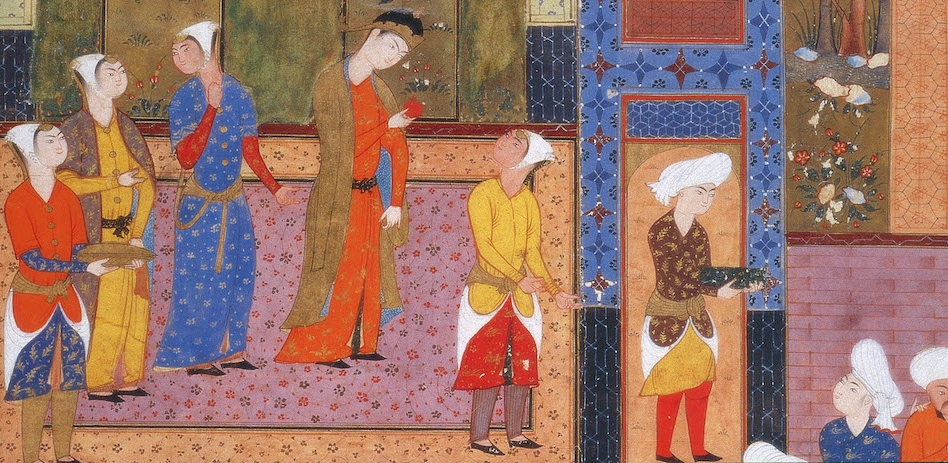 Image from the Peck Shahnamah. 16th century, Shiraz. Princeton University Library.