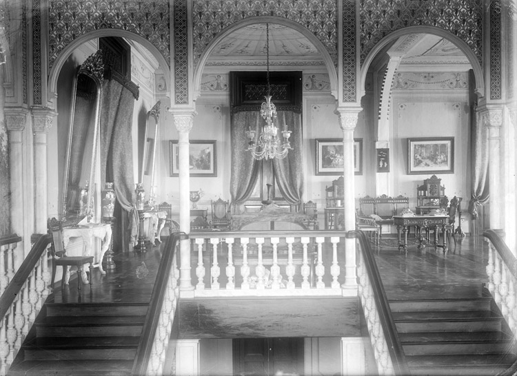 Dean C. Worcester,  Head of Stairway occupied by First Philippine Commission. Manila , 1899