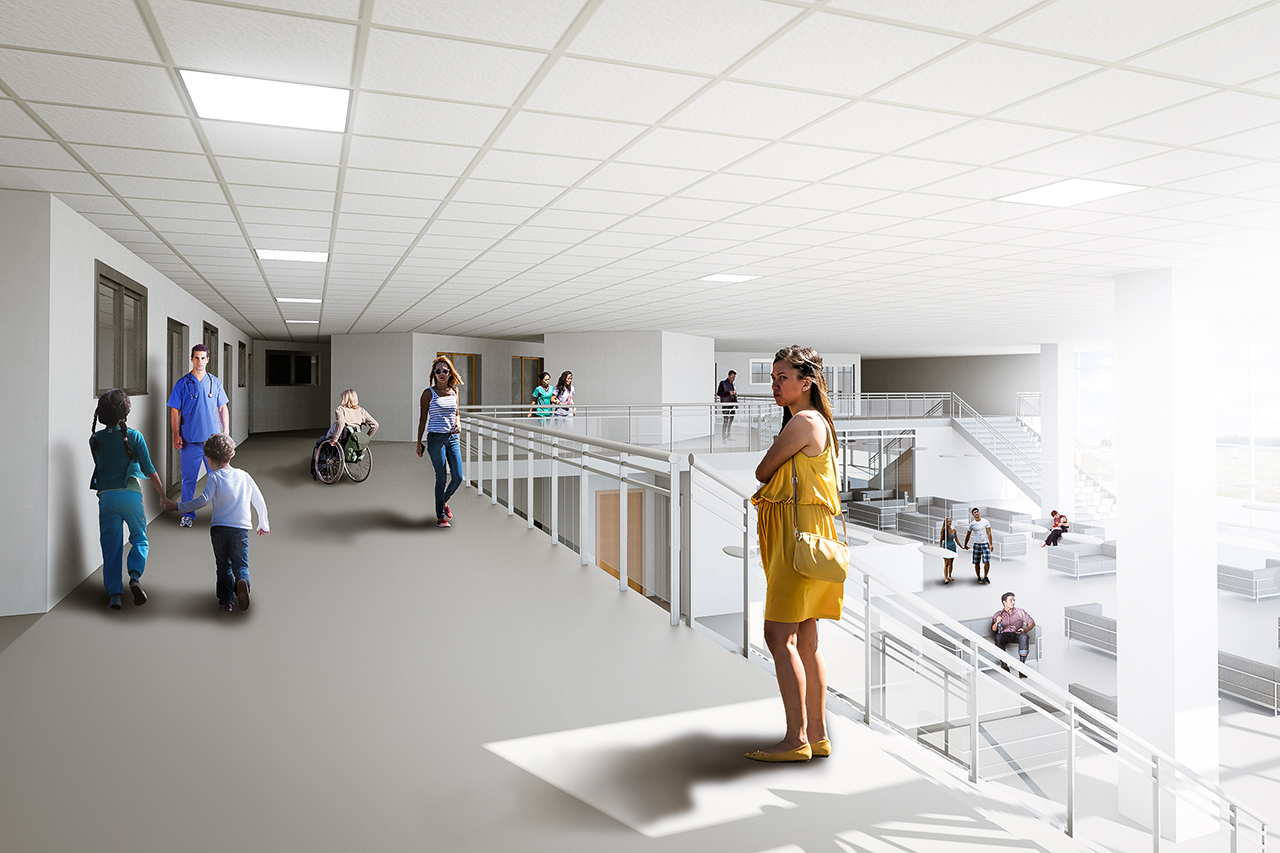 Second Level Secondary Healthcare Center Interior Rendering