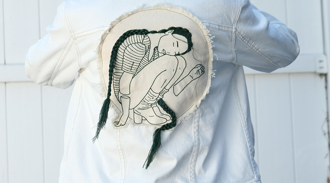 An NYC Artist Puts Her Spin On Summer Denim — And It's All In The Details  , June 2018. Image: TZR