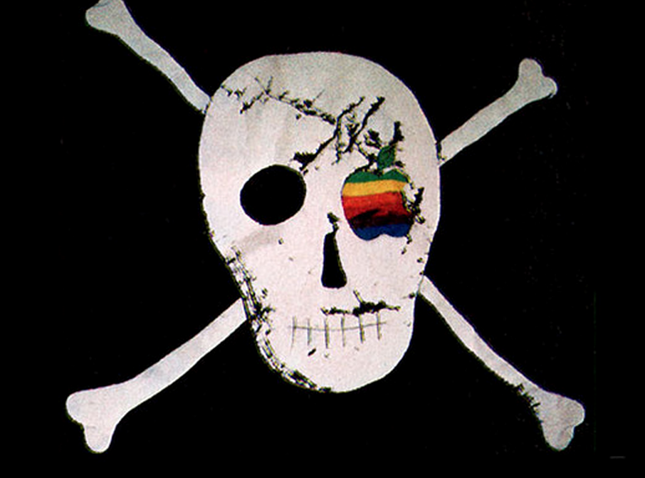 The Apple pirate flag that flew outside the Bandley 3 building in 1983 and 1984 where the Mac team was located. The flag became a sign of rebellion,independence and original spirit.