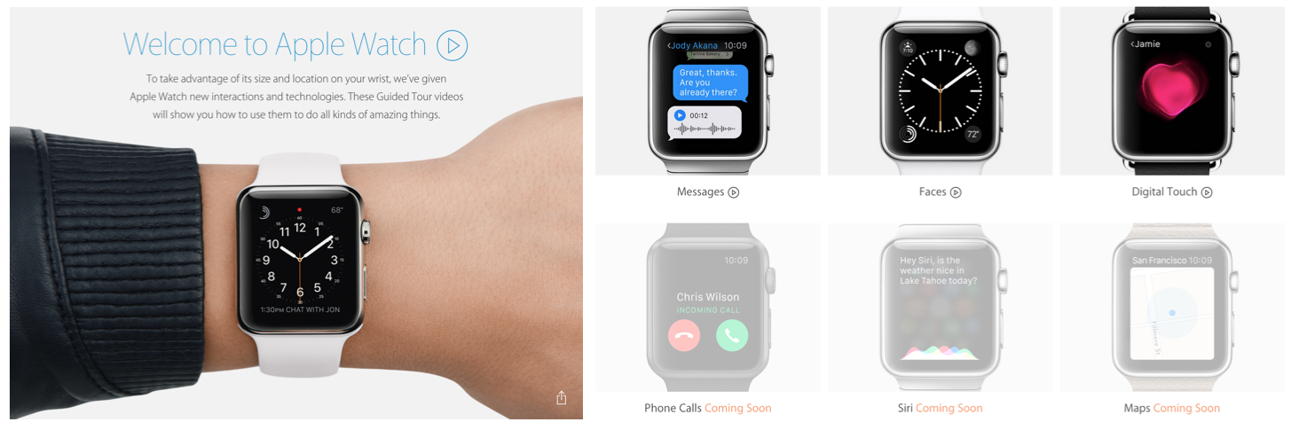 Apple's New Apple Watch Guided Tours