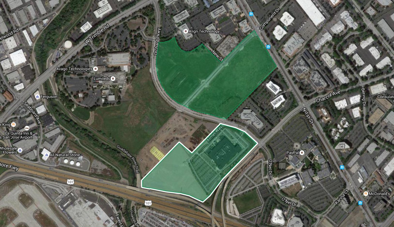 Apple's third land transaction in north San Jose.