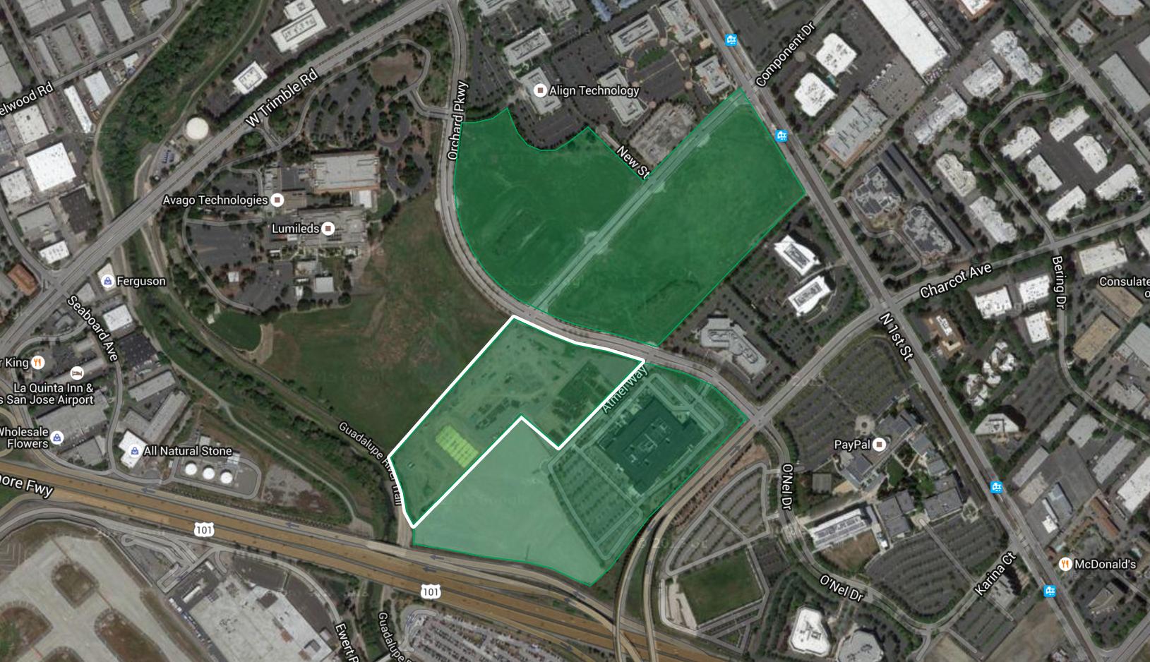 Apple's fourth land transaction in north San Jose.