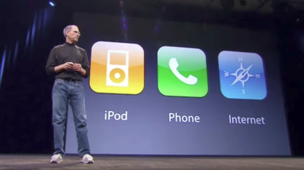 Steve Jobs introduces the iPhone in January 2007.