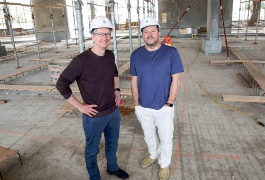 Tim Cook and Jony Ive at Apple Park. Photo credit: The Telegraph
