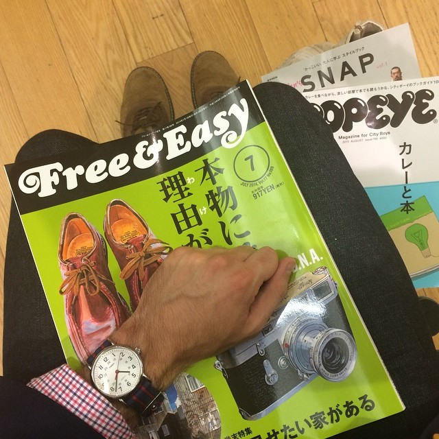 Japanese menswear magazines complimented by my Timex Weekender.
