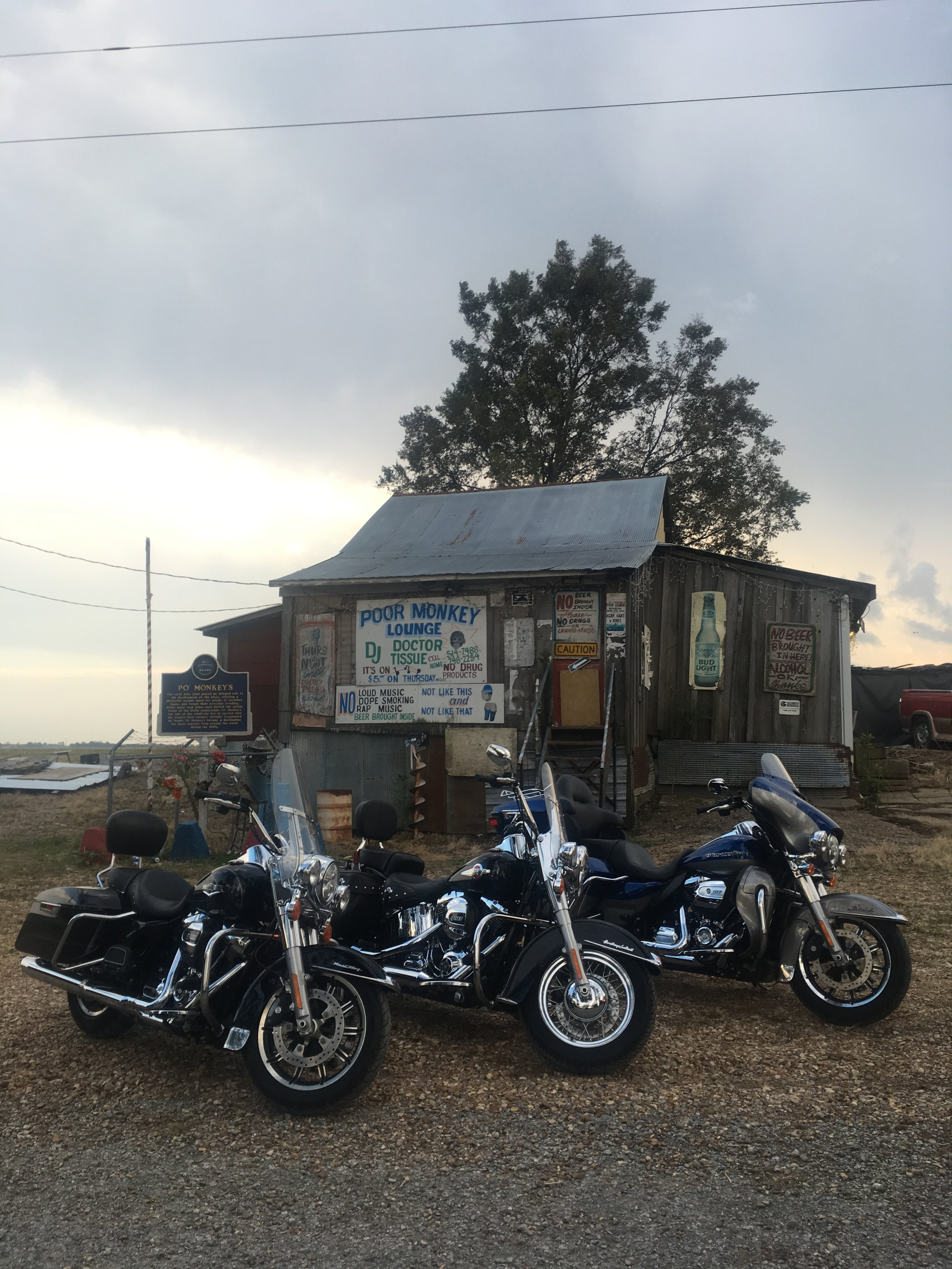 An old blues juke joint called Poor Monkey Lounge. This is located outside of Merigold, Mississippi