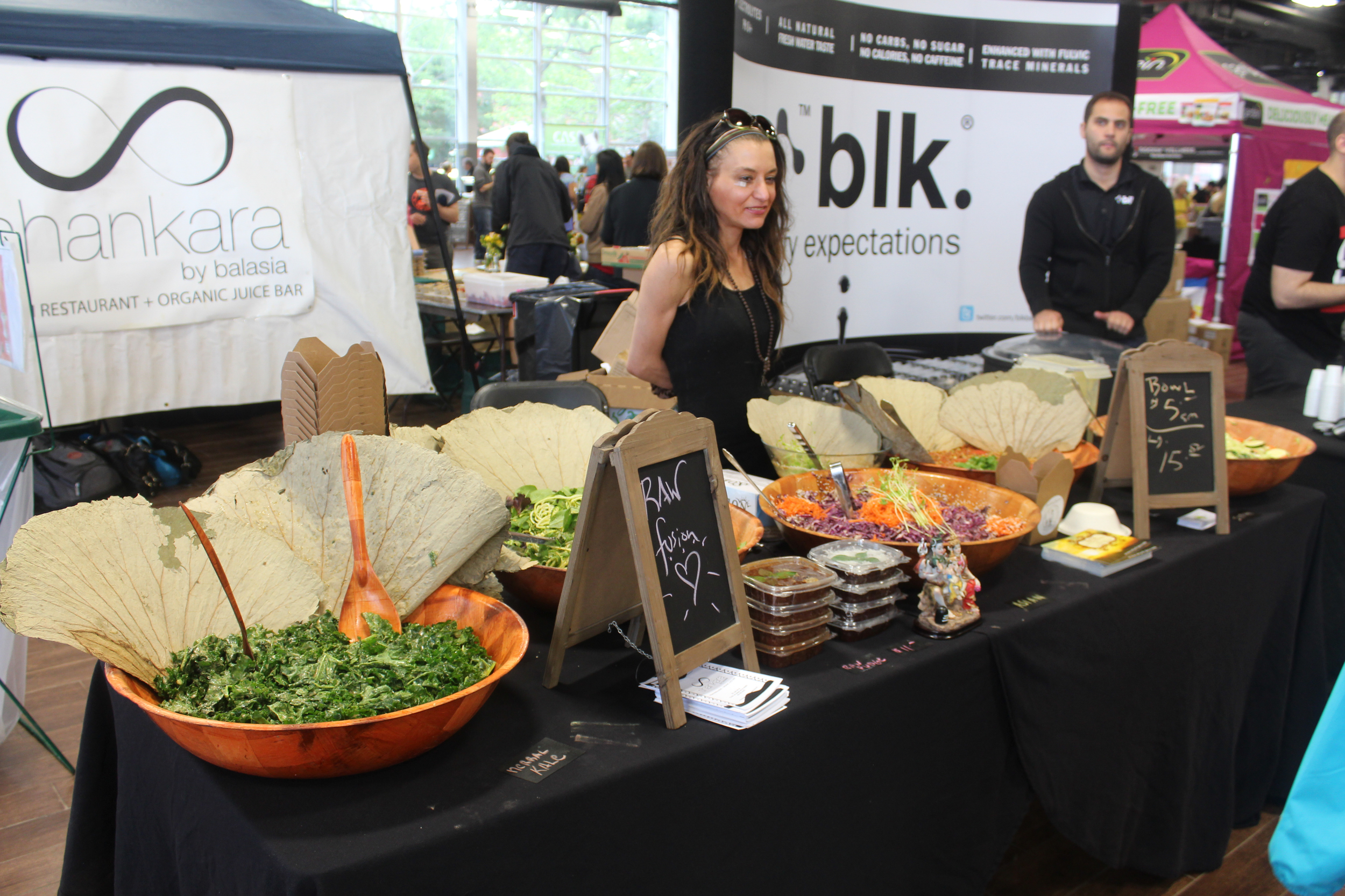 With greens galore, the expo area was the best place to munch on health foods during sessions.