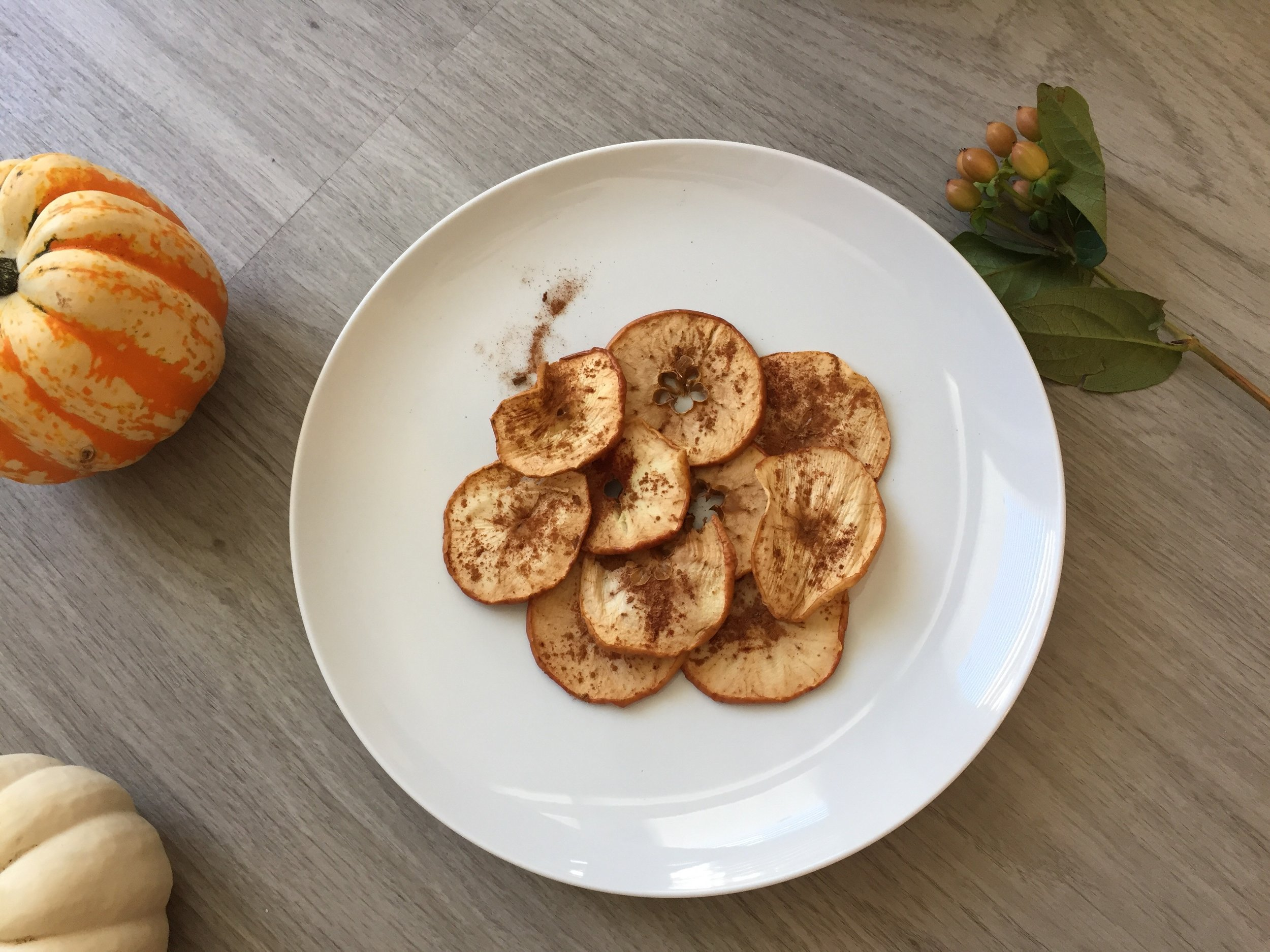 these chips don't quit. fall for apple chips that you can dehydrate in your oven.