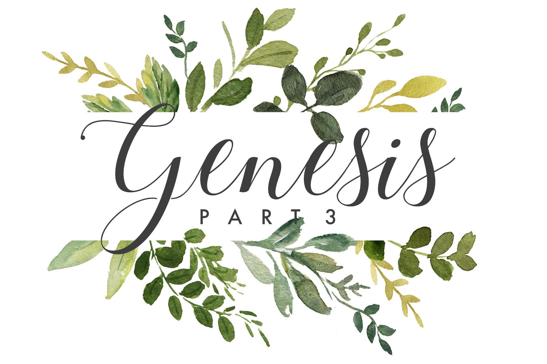 Genesis Part III  Genesis 26-50 | Spring 2018