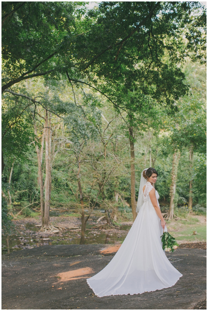 Bridal Session in Falls Park in downtown Greenville, SC.