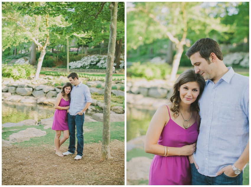 Engagement Session at Falls Park in downtown Greenville