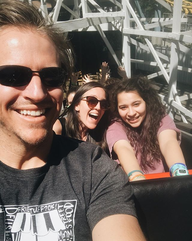 Riding all the roller coasters. At some point, I could no longer tell if the feeling in my stomach was nerves for the coaster we were about to do or nausea from the coaster we just did 🤷🏼♀️👊🏼