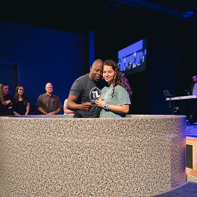 """Today our Mo celebrated her new life in Christ through baptism! And what sweet timing, as she begins a new chapter in her life, to say, """"I identify with Jesus. I choose to follow him."""" Mo, watching you grow in your faith and confidence of who you are in Christ has been one of the greatest privileges of my life.  Praise to Jesus, the one who raises us up with himself and gives us new life!"""