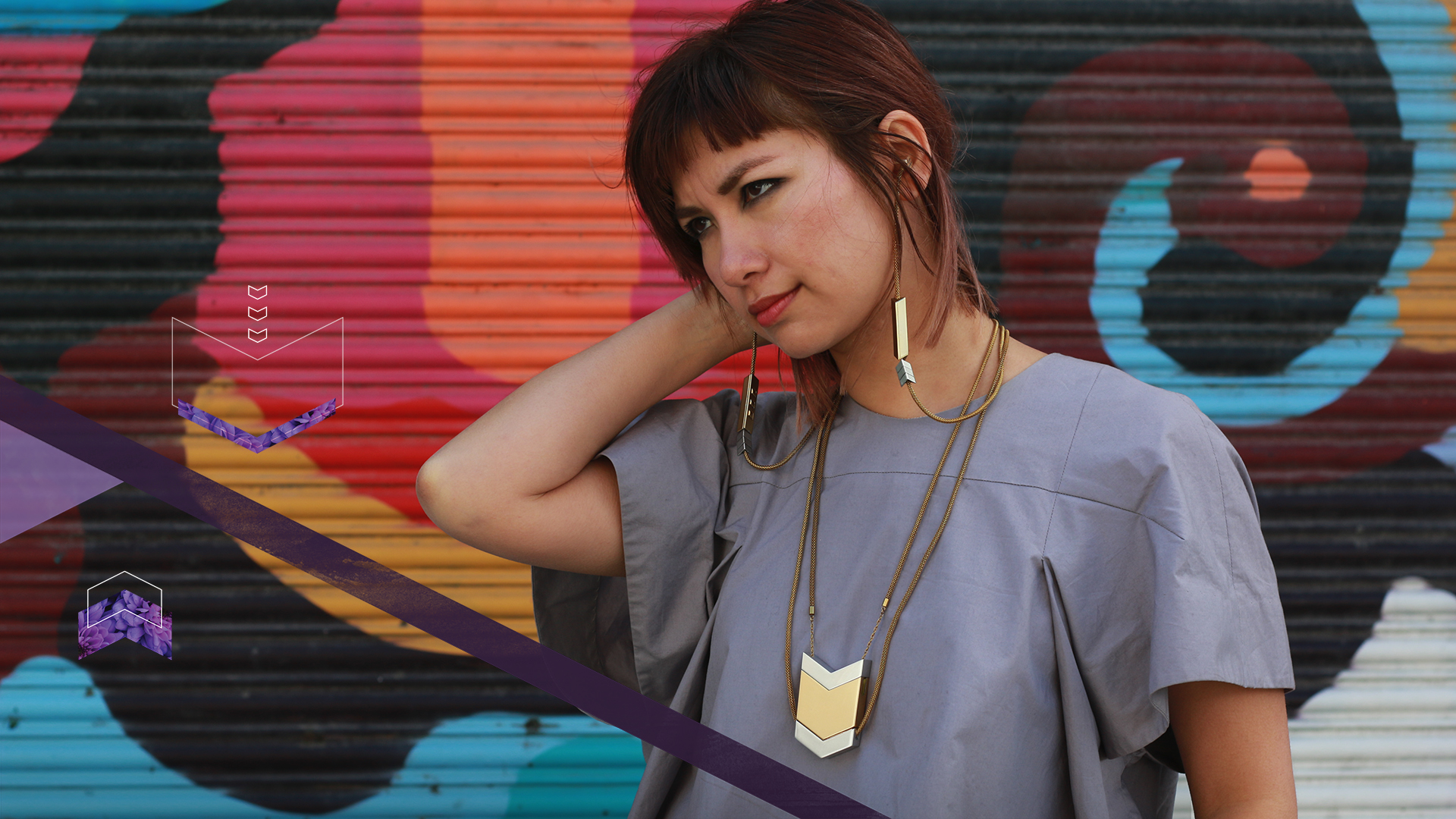 Tinsel- The Dipper Audio Necklace in Gold, tinsel.me