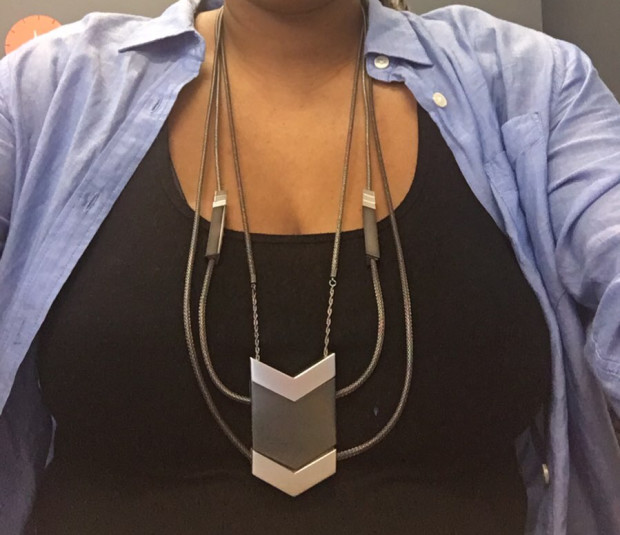 Tinsel- The Dipper Audio Necklace in Gunmetal, tinsel.me