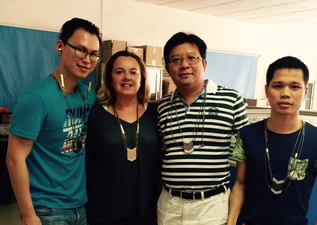 Tinsel- The Dipper Audio Necklace, Co-Founder Monia in Shenzhen, tinsel.me