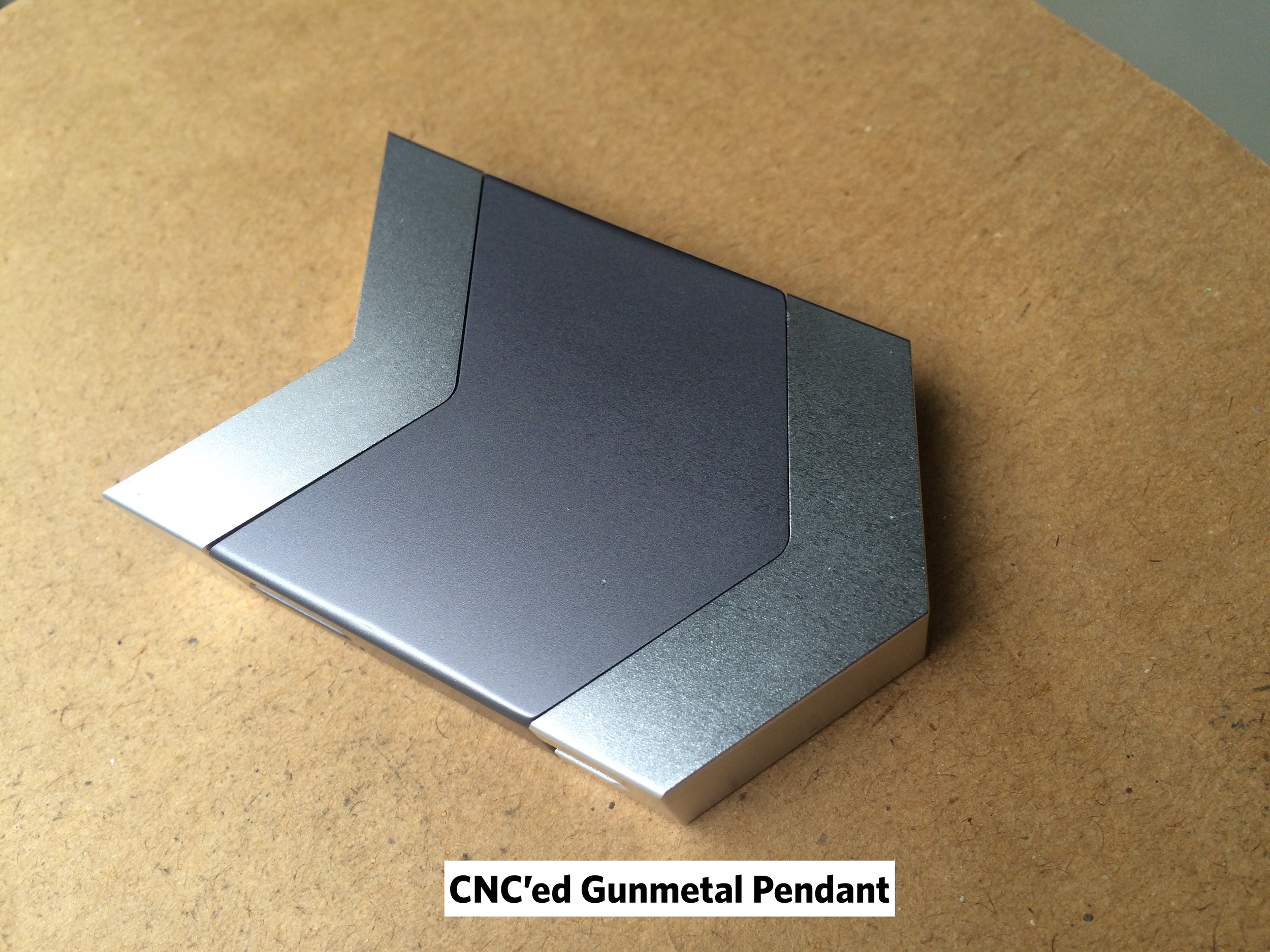 Tinsel- Dipper Audio Necklace: CNC Gunmetal Pendant, tinsel.me