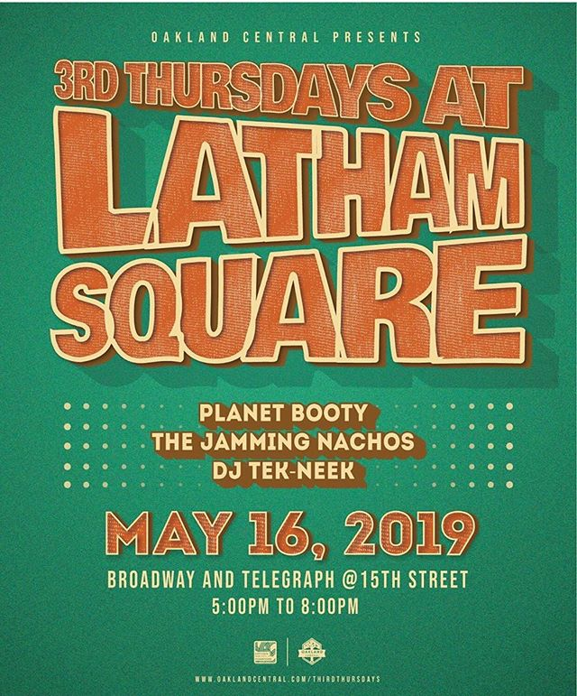 Come party in Oakland with us at Latham Square this Thursday!!! Show starts at 5pm! @oakcentral #thirdthursdays #oakland #thejammingnachos