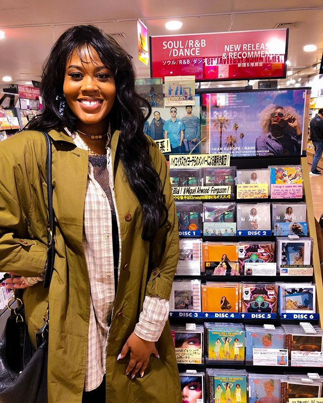 when you pull up to Tower Records in Japan a year after your album released out there & they STILL have you on display. 😭😁 . big smiling. big proud of myself.
