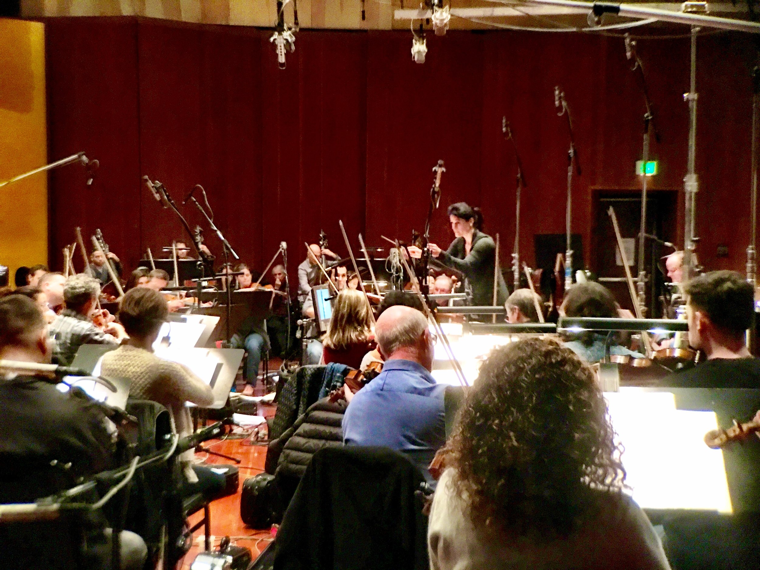 """Recording """"The Bride"""" at Warner Brother Eastwood Scoring Stage (LAFCI, 2017)"""