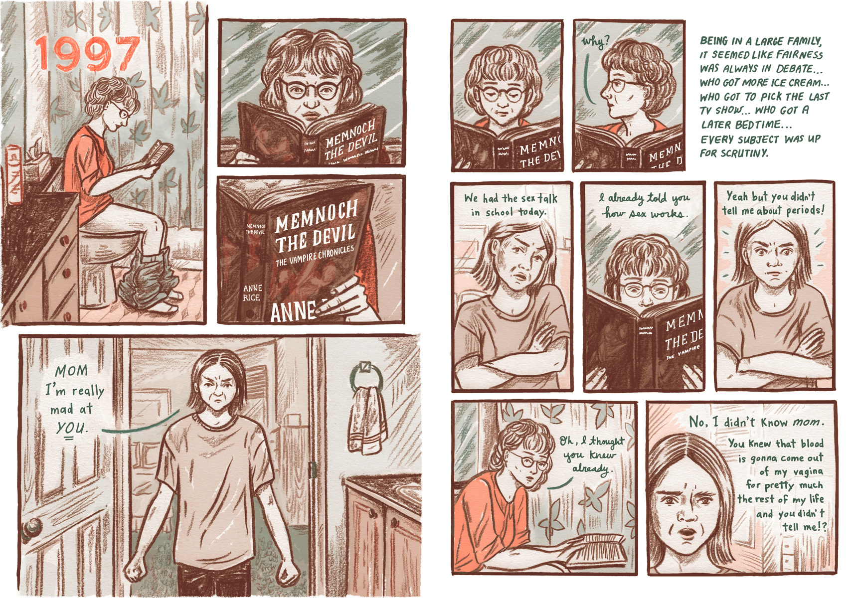 Chapter 5, pages 1 and 2 of Long Red Hair. Copyright 2015 Meags Fitzgerald.