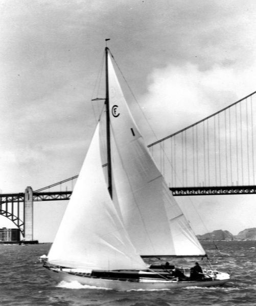 Patita II carried sail No. 1 for the Farallone Clipper class, one of six original boats that had their first class-racing season in 1939.