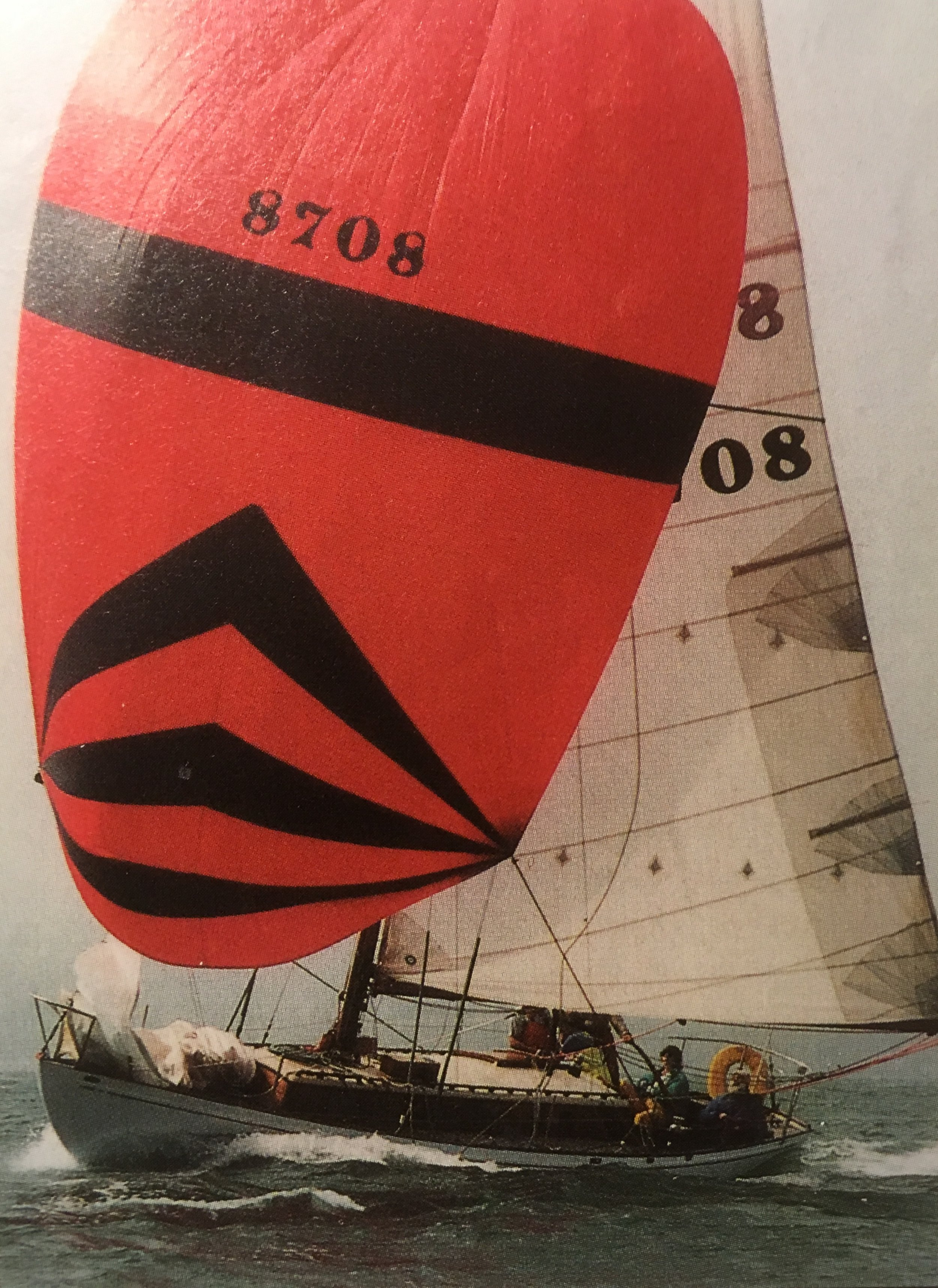 CREDIT, the author's boat, is one of the fleet of Farallone Clippers still actively sailing and racing on San Francisco Bay. CREDIT has been through many changes to support her vastly altered rig. Other boats of the fleet, for example Gene Buck's OUESSANT, carry their original plans.