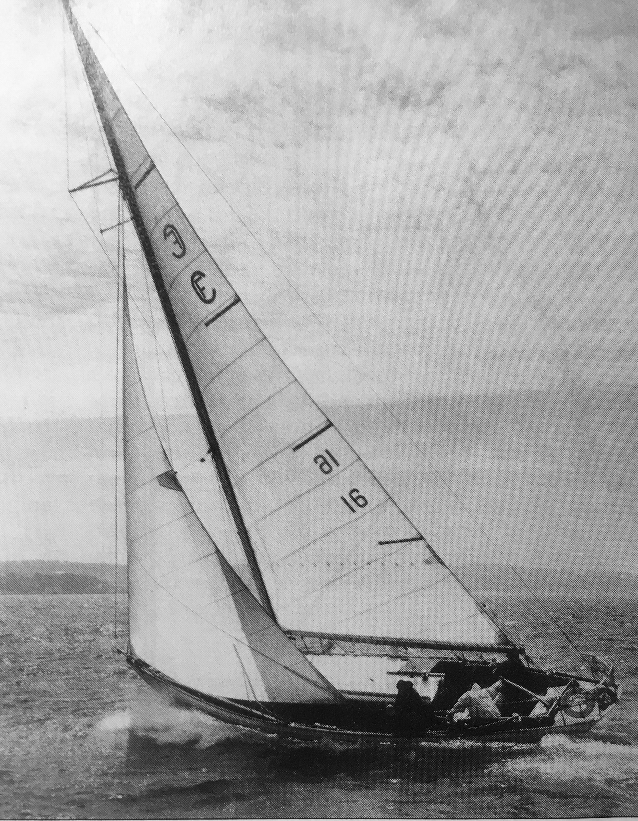 CIRCE, pictured here in the days before her masthead rig, was one of only two Farallone Clippers ordered with teak decks. Her planking was evenly color-matched as well, for a bright finish, although she was later painted.