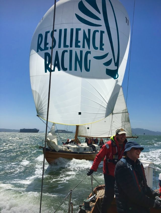 Hana and Mistress II mixing it up in the annual Master Mariners Regatta, 2019