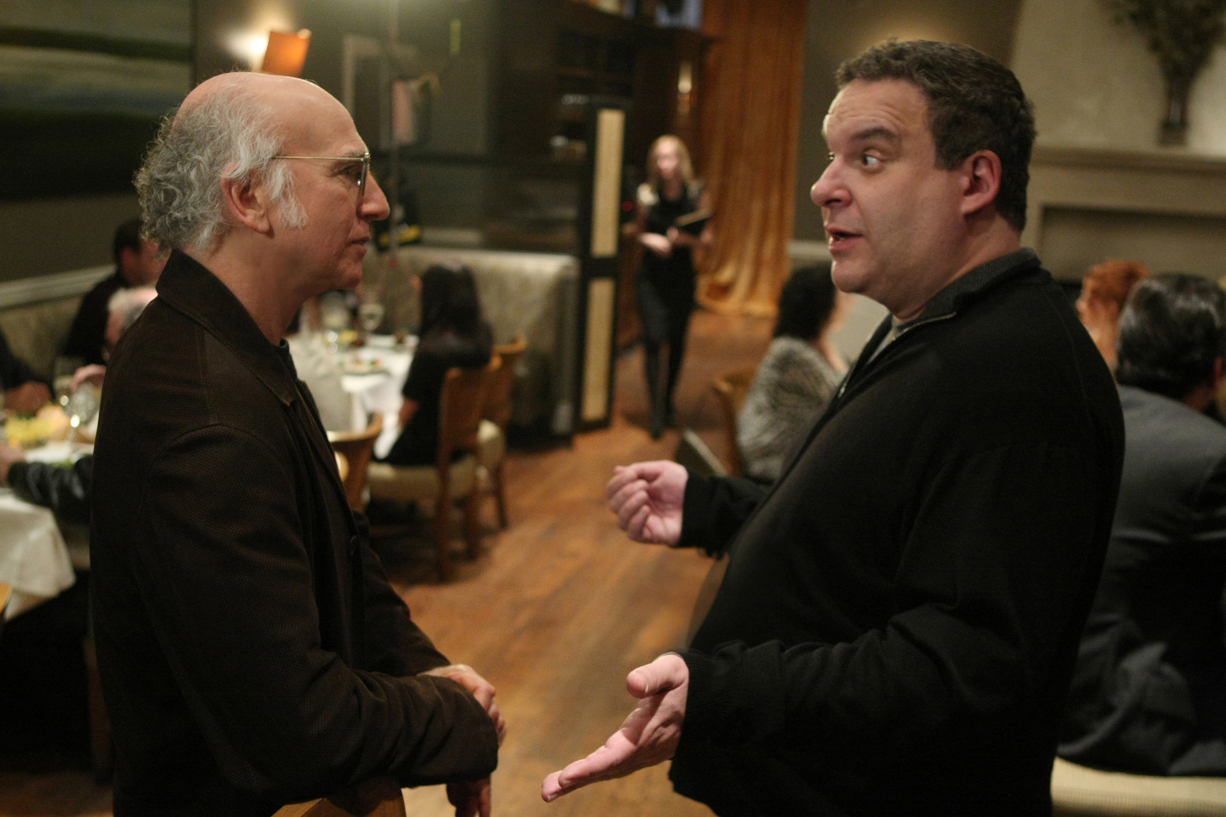 Larry David and Jeff Garlin (as Jeff Greene) in Curb Your Enthusiasm