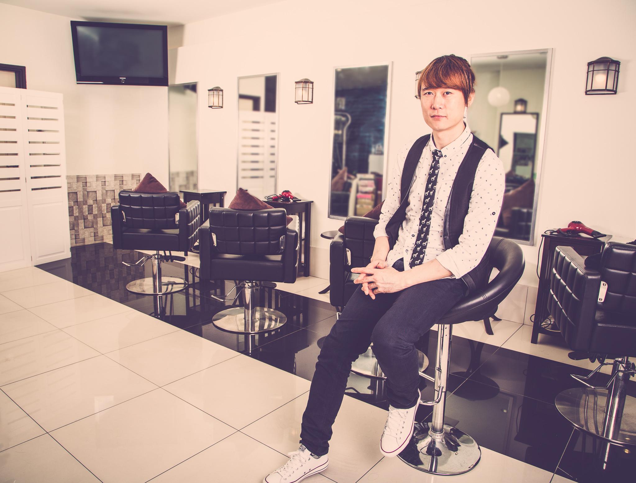 Portrait of Park Jung Ho Korean Hair Stylist