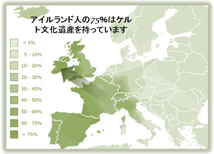 ケルト文化遺産を持つ人口の割合
