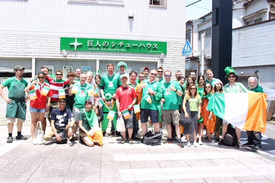Tour members gathered at the Giant's Stewhouse during 2017 Ireland vs Japan Summer Series