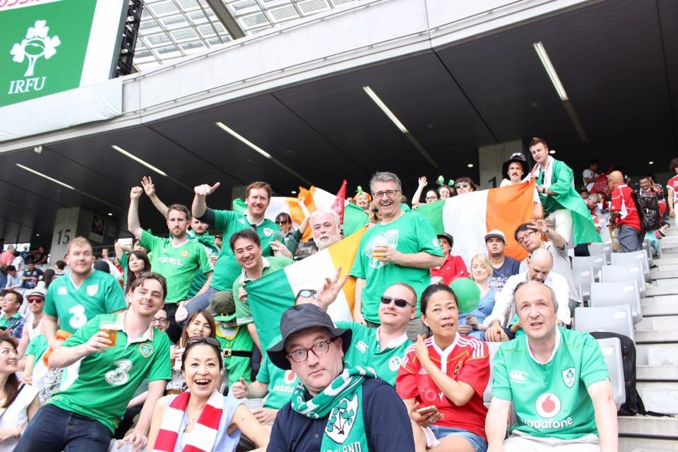 Irish Supporters during the 2017 Ireland vs Japan Summer Series