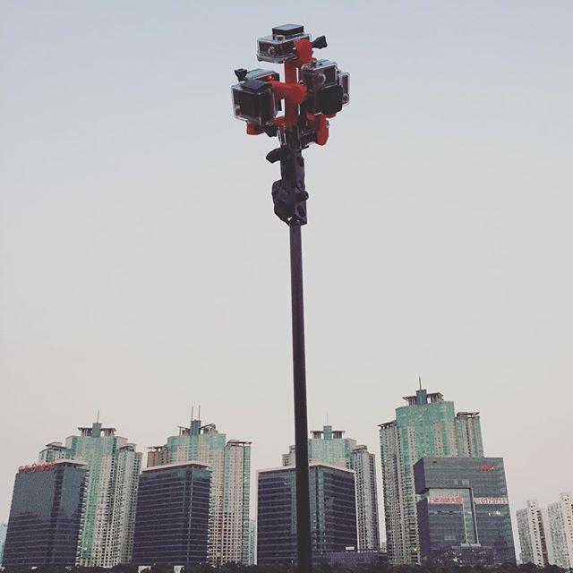 First #360 #VR shoot. Using 6x #GoPro - #Shanghai #filmmaking