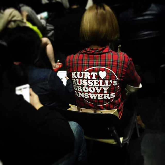 Here in China, I've see a lot of wacky English text apparel in my day. But this one might be the most random. #china #chinglish #kurtrussell