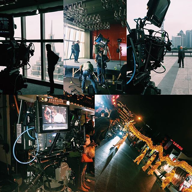 That's a wrap with #qatarairways in #Shanghai where we shot with the amazing #arrialexa - Great day!