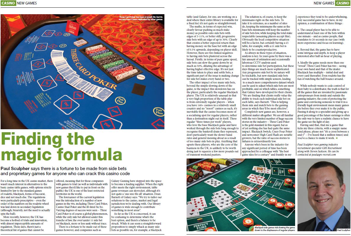 Copy of the original published article in Gambling Insider,written by: Paul Sculpher