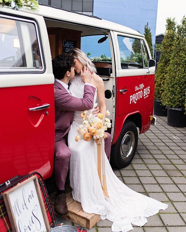 Buses are for lovers.  @mhpdx @archiverentals  @metalandmoss  @sloshypops @reedvillecatering @charlottesweddings @blossomandbeauty @dreamcakespdx @thescribblist @littlephotobusofportland @theblacktux