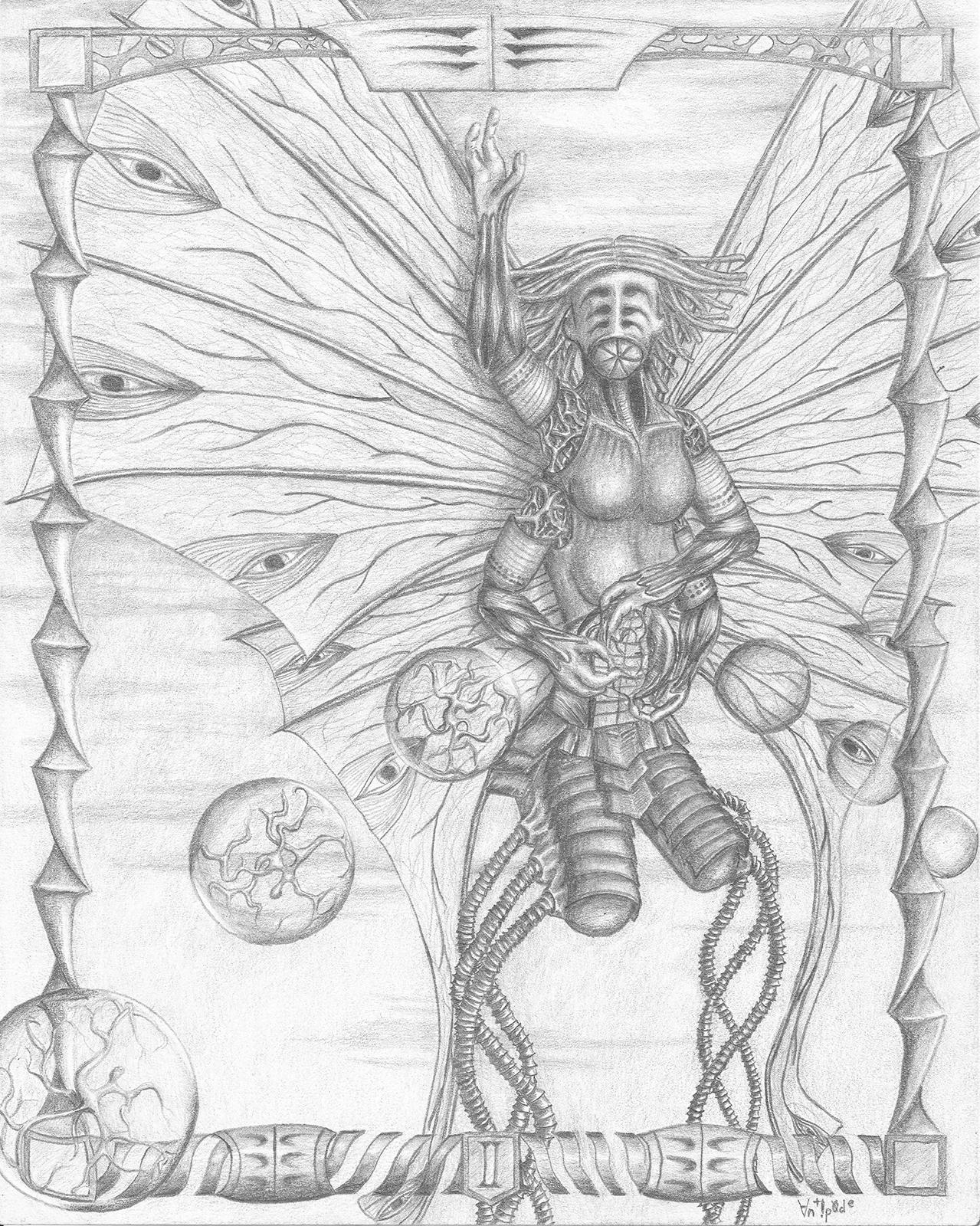 "II, graphite on paper, 8x10"", 2015"